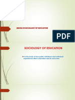 Issues in Sociology of Education PP