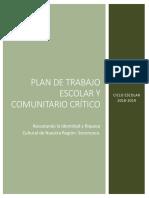 Plan de Trabajo Escolar y Comunitario 2018-2019 Redacción