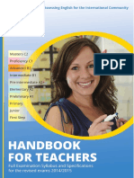 Handbook for Teachers 2014-2015