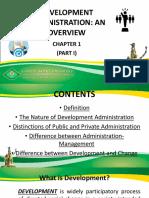 Development Management Overview part 1