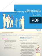 Highways Agency Lean Maturrity Toolkit (HALMAT) Version 21