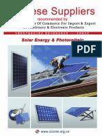Proveedores Energia Solar China