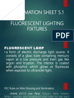 fluorescent lighting fixture