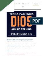 40 Versículos Bíblicos Que Hablan de Paciencia y Saber Esperar en Dios