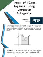 Areas of Plane Regions Using Definite Integrals