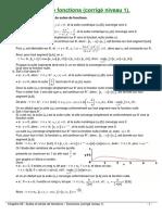 08 - Suites Et Series de Fonctions Corriges Niveau 1
