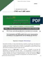 Indicador de TMO en CallCenter - Formaciongcc
