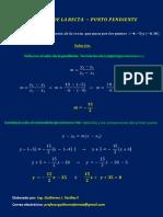 Ejemplo 2 Ecuacion de La Recta - Punto Pendiente