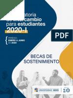Becas de Sostenimiento Convocatoria 2020-i