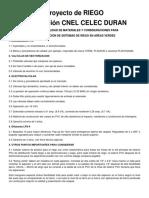 Especificaciones Técnicas Riego Subestacion Electrica