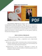 JOSEPH ESTRADA Written Report