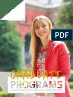 Graduate Programs Brochure