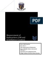 Measurement of Radioactives-converted