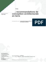 Les recommandations de conception architecturale en terre