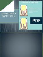 Pulpotomia y Pulpectomia