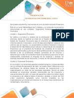 Presentación Del Curso Administración Financiera
