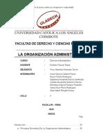 La Organización Administrativa
