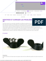 Identifier Et Corriger Les Problèmes d'Impression 3D ・ Cults