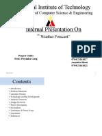 Template of Internal Presentation
