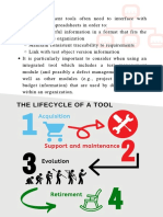 A test manager guide for the lifecycle of a tool