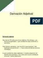 4 Derivación Adjetival