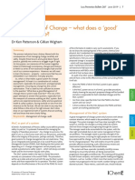 Management of Change – what does a 'good'  system look like?