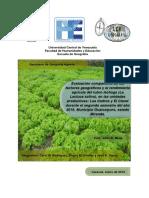 Comparación geográfica entre dos unidades productivas agricolas