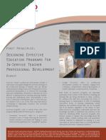 Desigining Effective Inservice Prog