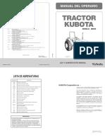 Manual Kubota m9540