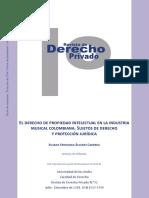 Propiedad Intelectual en La Industria Musical Colombiana