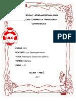 Pobreza y Empleo en El Perú