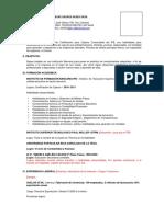 Modelo Curriculum Octubre 2012