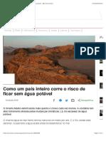 Como um país inteiro corre o risco de ficar sem água potável - BBC News Brasil