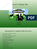 Unilever and Ben&Jerrys Ice Cream Strategic Plan Project