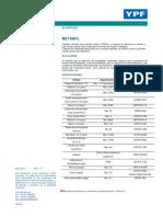 Ficha Técnica de Metanol