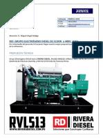 Especificaciones Generador Electrico