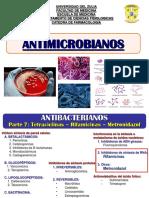 Antibacterianos Parte 7 - Tetraciclinas Rifamicinas Metronidazol