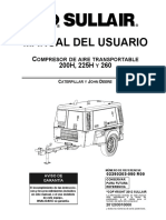 manual usuario Compresor Sullair 260