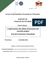 Rapport de Stage (PFE) province de taroudant