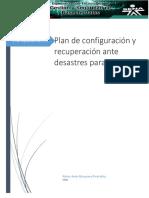 Plan de Configuración y Recuperación Ante Desastres Para El SMBD.