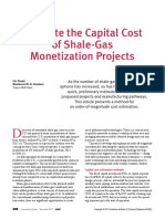 Estimate the Capital Cost of Shale-Gas Monetization Projects