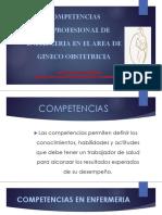 Competencias Del Profesional de Enfermeria en El Area