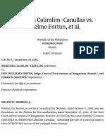 Mercedes Calimlim-Canullas vs. Willelmo Fortun, et al.   Supra Source