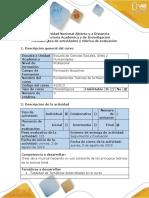 Guía de Actividades y Rubrica  de evaluación - Fase 5  Actividad Compositiva Final