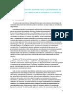 Tema2. Resolucion de Problemas y La Ensenanza de Las Matematicas Como Pilar de Desarrollo Cientifico