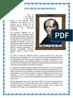 Biografía Nicolás Maquiavelo 2 Soles Falta