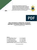 areas geograficas de venezuela