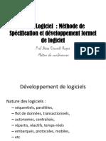 Méthode de Spécification Et Développement Formel de Logiciel