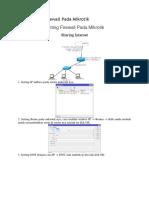 Cara Setting Firewall Pada Mikrotik
