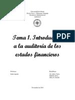 Introducción a La Auditoria de Los Estados Financieros